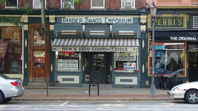 Across the street from Trader Shags Music Emporium, located on 84 Main St. in Brockport, New York
